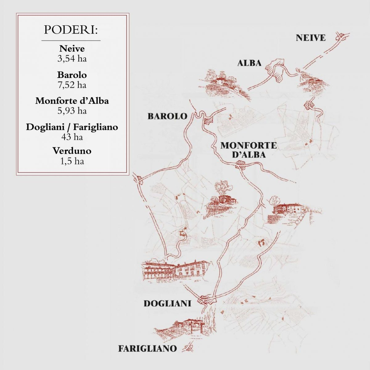 Mappa dei Poderi Einaudi